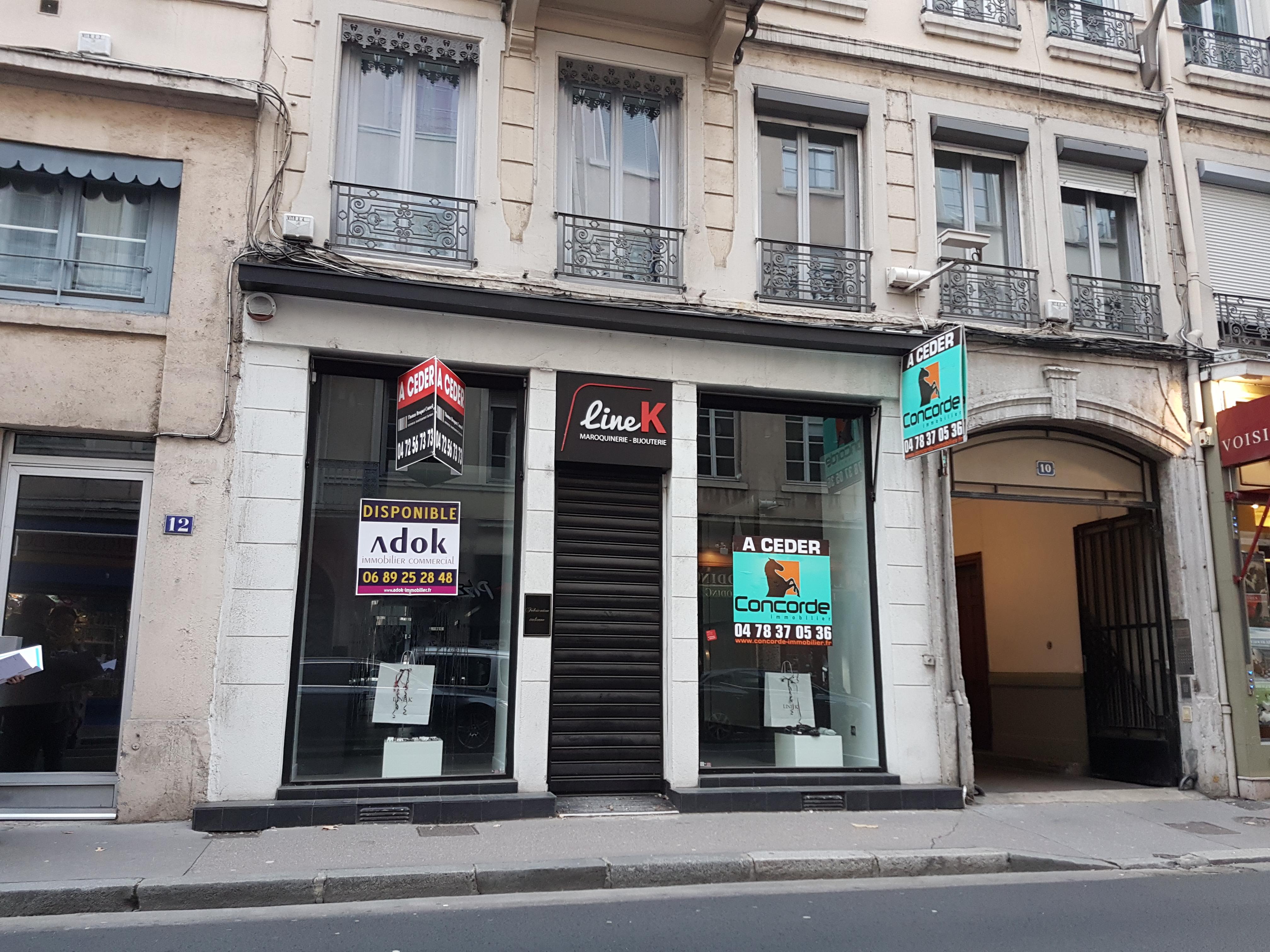 LYON 69006 – Cours Vitton – Murs commerciaux A VENDRE loués
