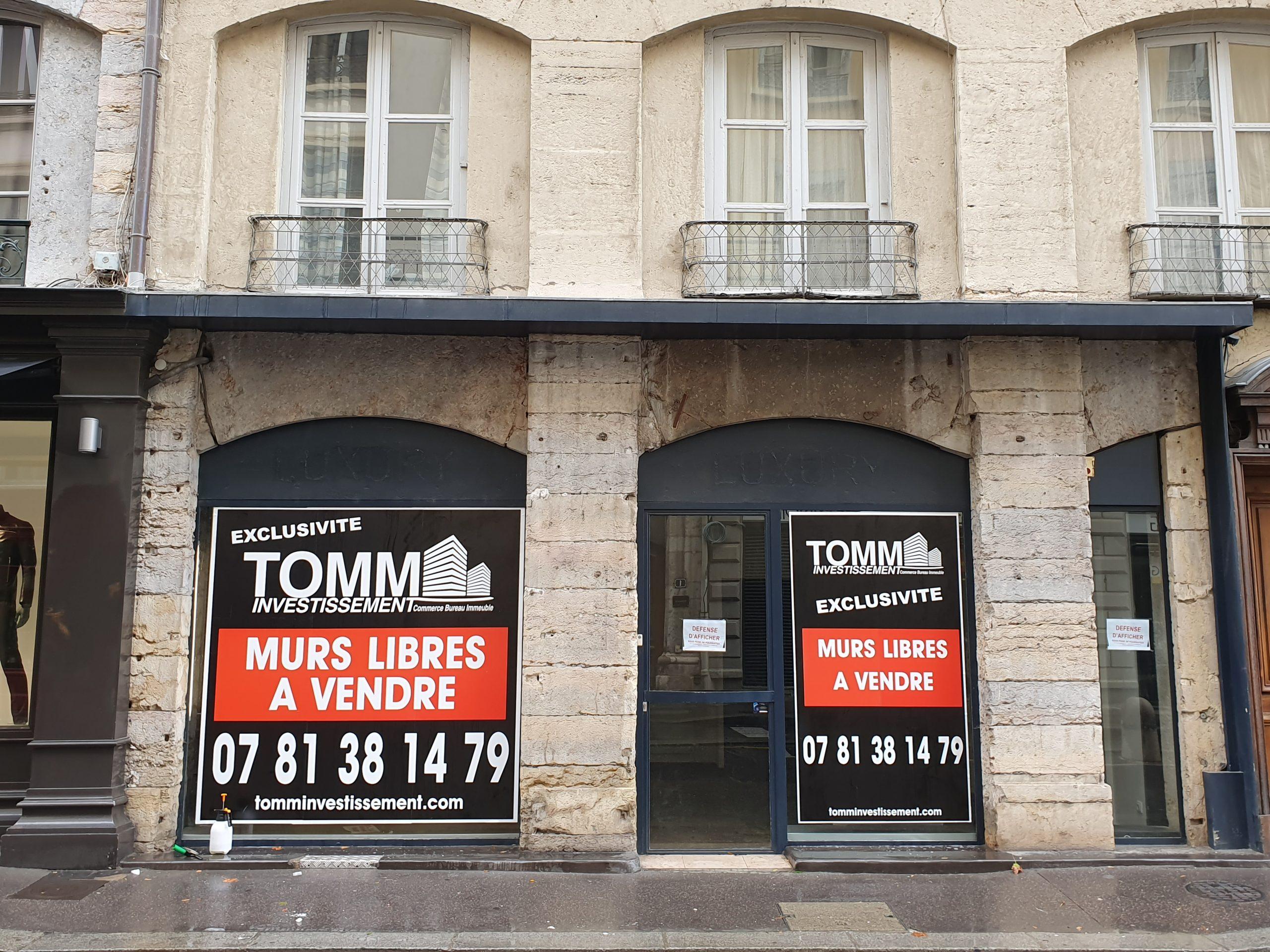 LYON 69002 – Rue Gaspard Andrée – A VENDRE murs commerciaux libres