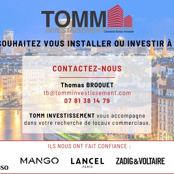 TOMM INVESTISSEMENT – Votre recherche de locaux commerciaux à Lyon